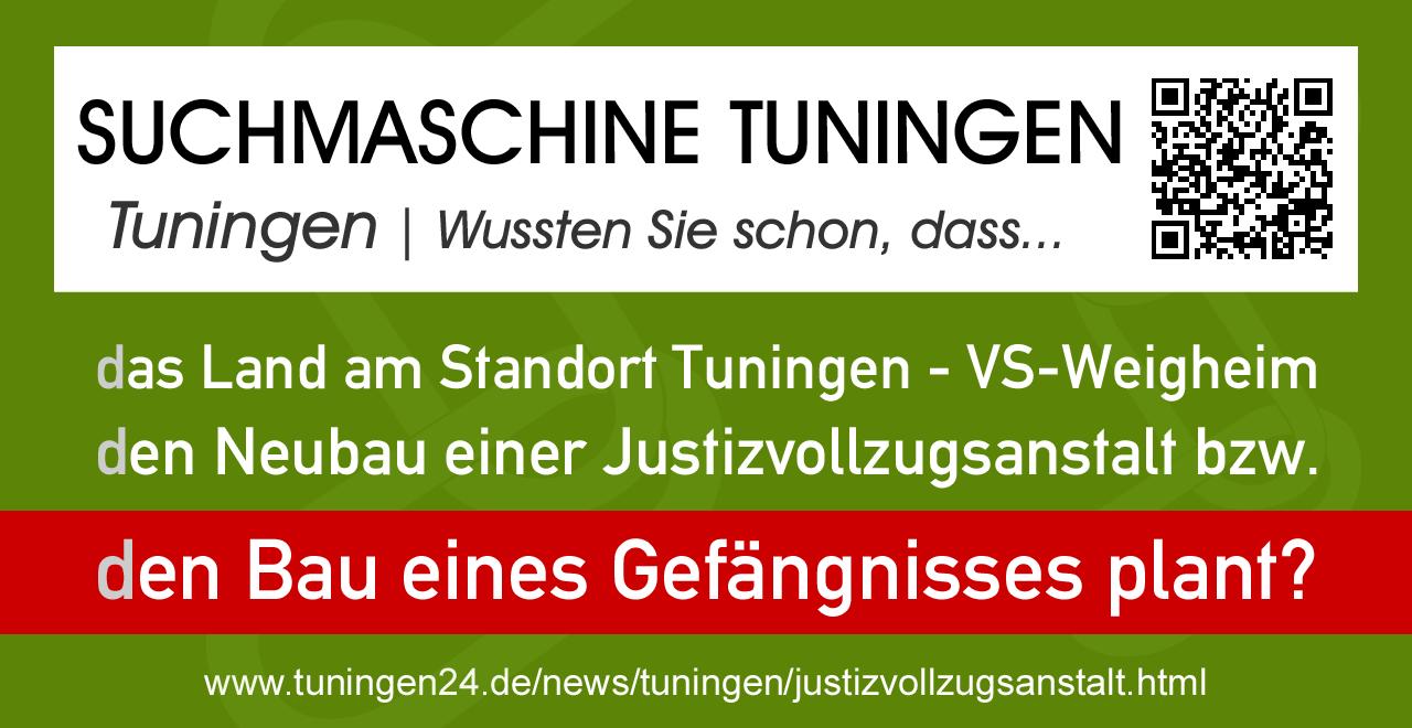 Grafik Suchmaschine Tuningen informiert über die neue Justizvollzugsanstalt - Gefängnis - Recherche-Leitseite